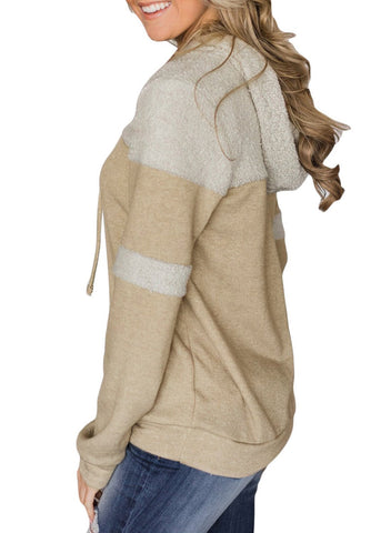 Image of Patchwork Hoodie with Pockets