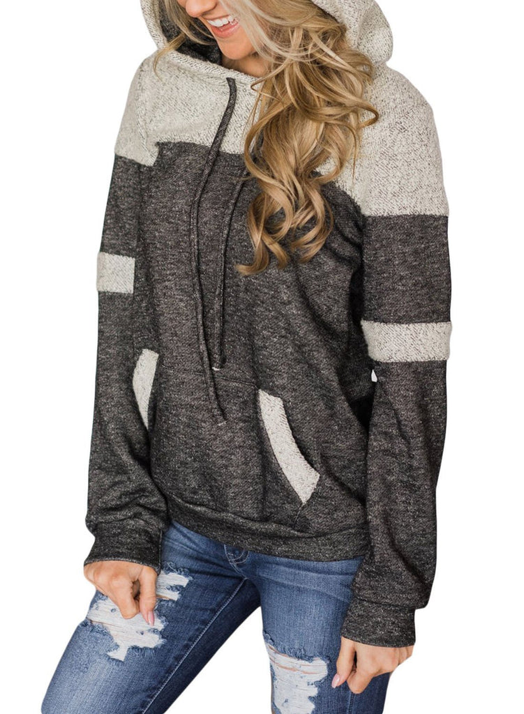 Patchwork Hoodie with Pockets