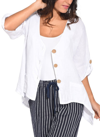 Image of Roll Tab Sleeve Button Front Casual Shirt