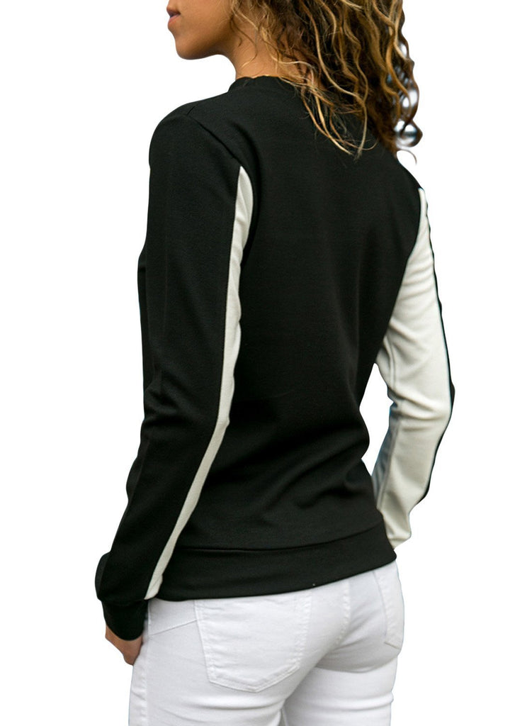 Color Block Crew Neck Sweatshirt