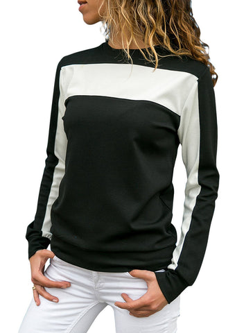 Image of Color Block Crew Neck Sweatshirt