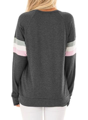 Image of Be Happy Loose Graphic Sweatshirt