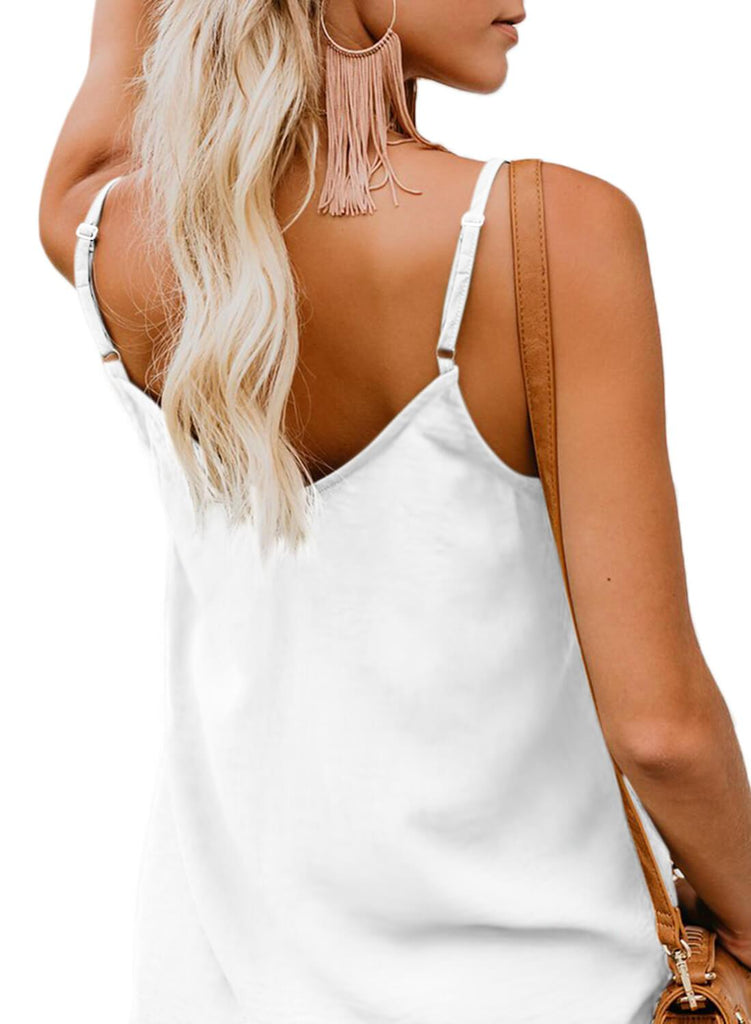 Simple V Neck Tank Top (LC251835-1-2)