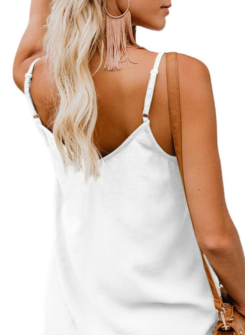 Image of Simple V Neck Tank Top (LC251835-1-2)