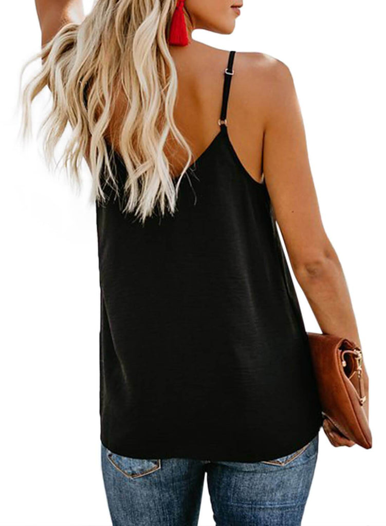 Simple V Neck Tank Top (LC251835-2-2)