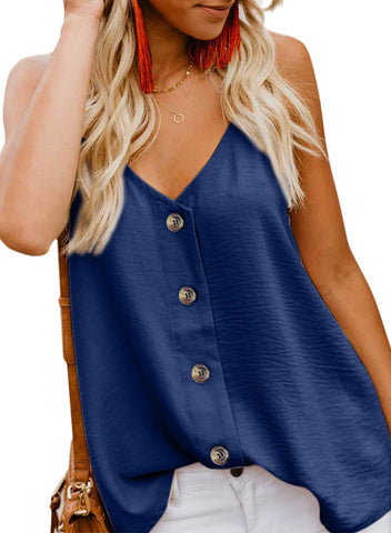 Image of Simple V Neck Tank Top (LC251835-5-1)