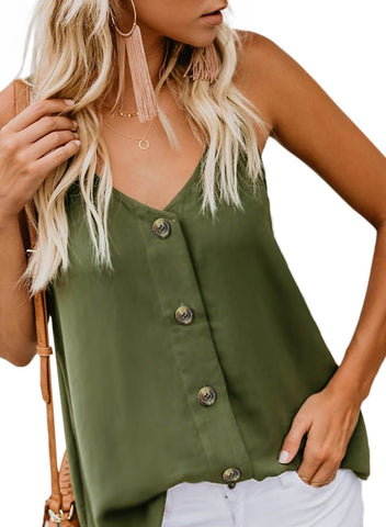 Image of Simple V Neck Tank Top (LC251835-9-3)