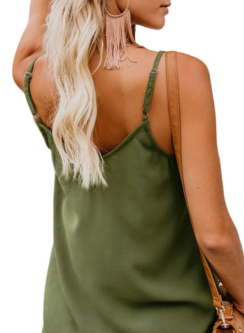 Image of Simple V Neck Tank Top (LC251835-9-2)