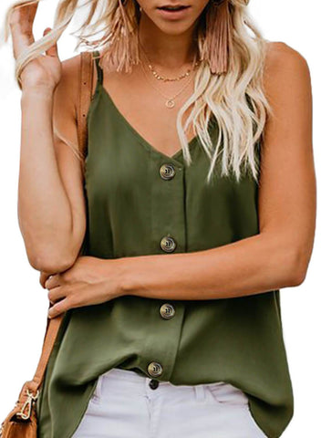 Image of Simple V Neck Tank Top (LC251835-9-1)