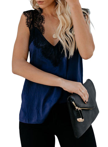 Image of One More Night Lace Cami Tank(LC251886-5-1)