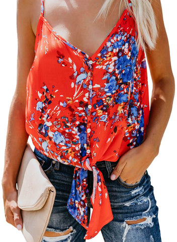 Floral Print Tank Tops (LC251903-14-1)