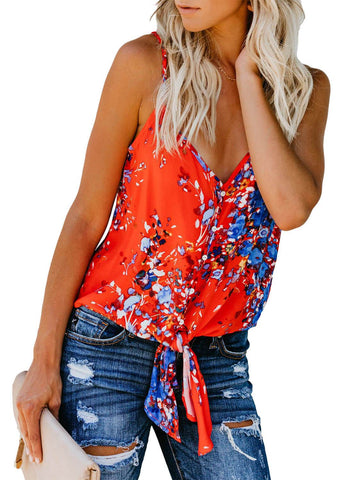 Floral Print Tank Tops (LC251903-14-3)