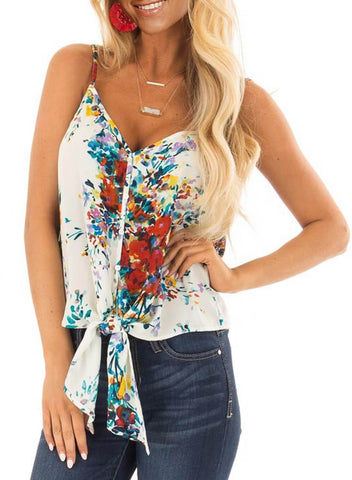 Floral Print Tank Tops (LC251903-1-1)