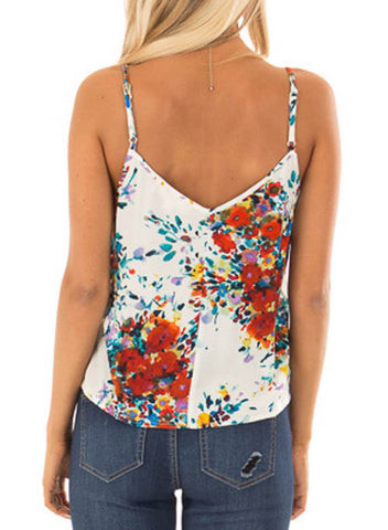 Floral Print Tank Tops (LC251903-1-2)