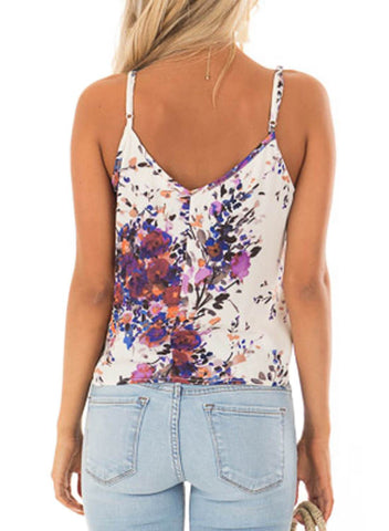 Floral Print Tank Tops (LC251903-8-2)