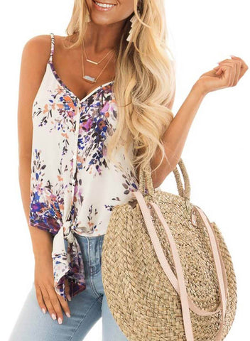 Floral Print Tank Tops (LC251903-8-1)