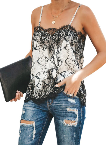 Adjustable Lace Cami Tank(LC251957-2-1)