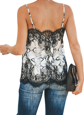 Image of Adjustable Lace Cami Tank(LC251957-2-2)