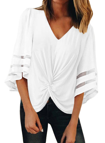 Front Twisted Blouses(LC252110-1-1)