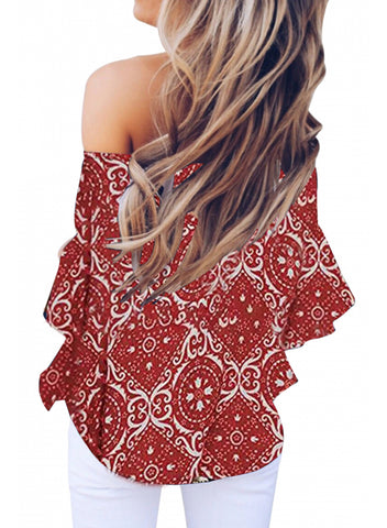Image of Ethnic style print top(LC252130-3-2)