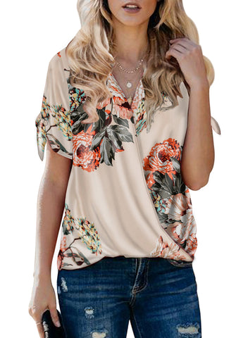 Image of Floral Twist Top(LC252179-18-1)