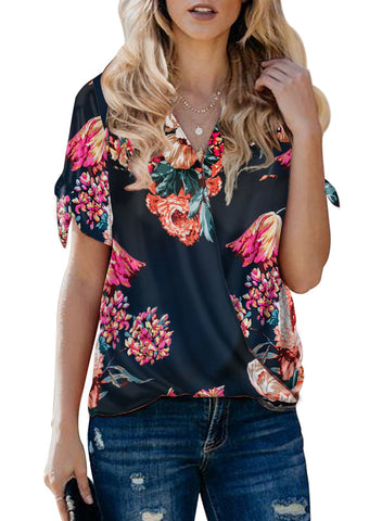Image of Floral Twist Top(LC252179-5-1)