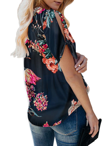 Image of Floral Twist Top(LC252179-5-2)