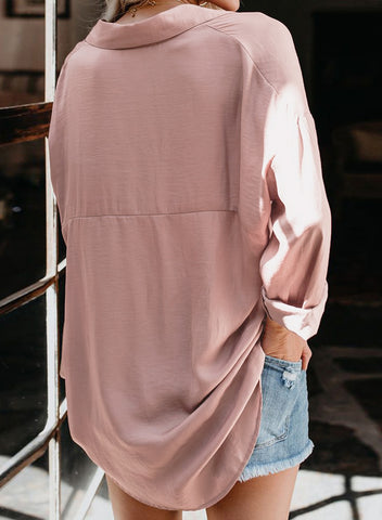 Image of Satin Utility Blouse(LC252367-10-2)