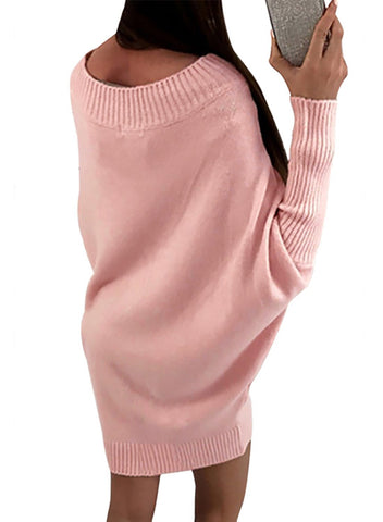 Long Sleeve Baggy Sweater Dress