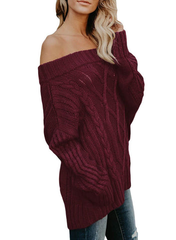 Image of Off The Shoulder Winter Sweater