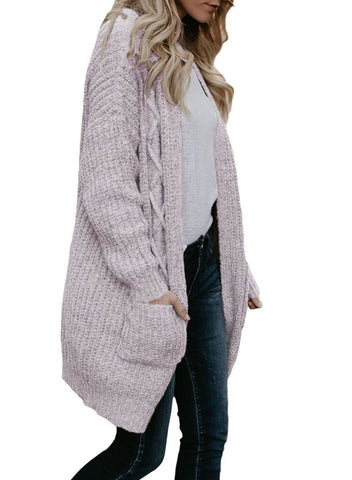 Image of Pockets Open Front Cardigans