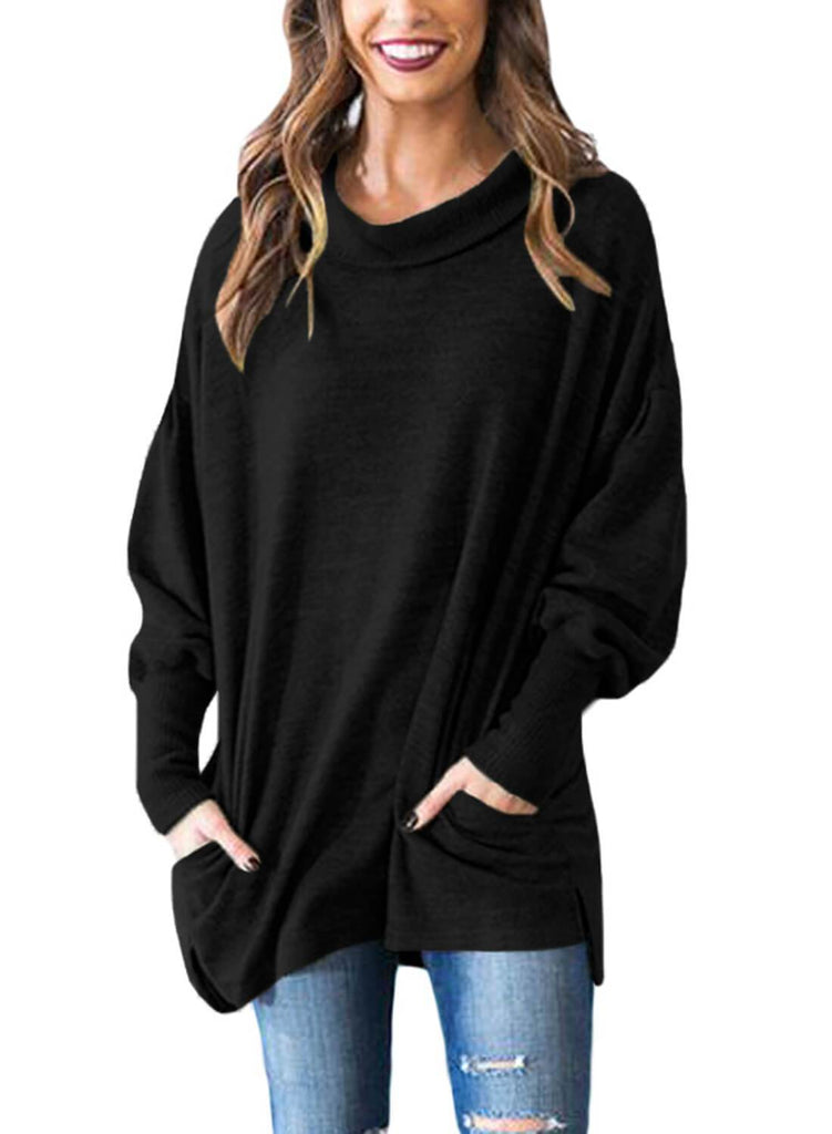 Loose Fit Tunic Sweater