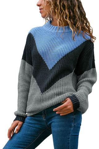 Image of Color Block Pullover Sweater