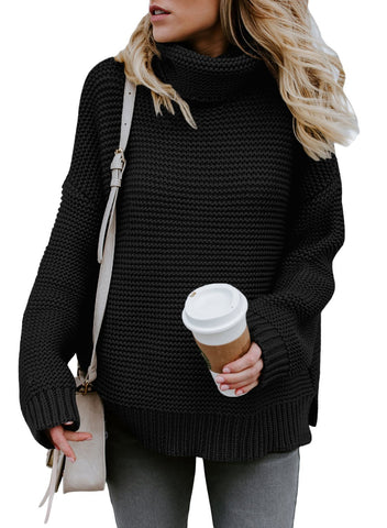 Image of Cozy Long Sleeve Turtleneck Sweater