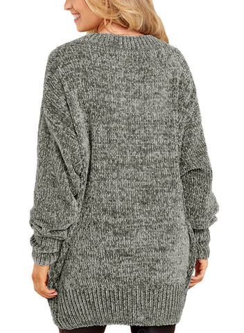 Image of Cozy Scoop Neck Velvet Sweater