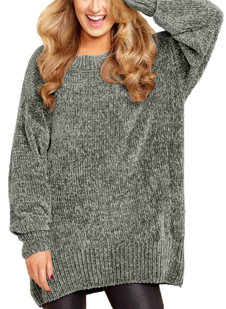 Cozy Scoop Neck Velvet Sweater
