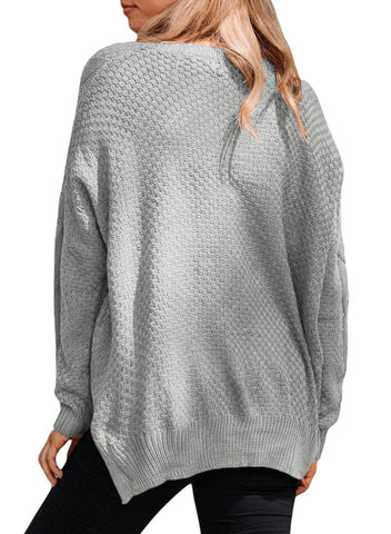Image of Thick Patterned Knit Sweater