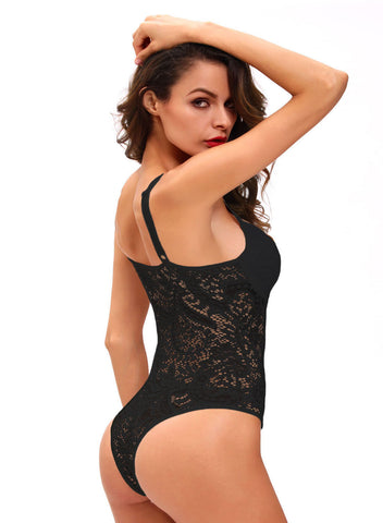 Sexy Push up Lace Teddy(LC32058-2-2)