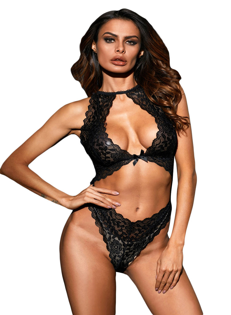 Cut out Lace Teddy(LC32179-2-1)