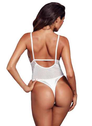 Triangular Lace Bodysuit(LC32223-1-2)
