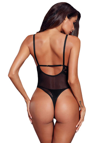 Triangular Lace Bodysuit(LC32223-2-2)