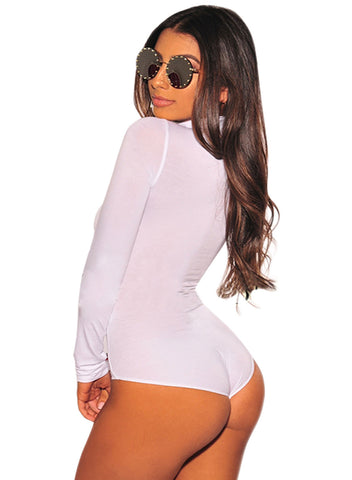 Long Sleeve Turtleneck Bodysuit(LC32284-1-2)