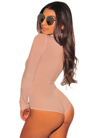 Long Sleeve Turtleneck Bodysuit(LC32284-18-2)