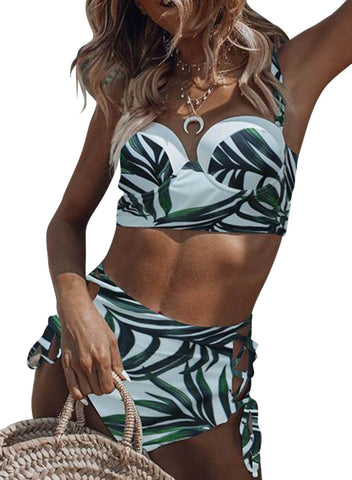 Tropical High Waist Bikini (LC411180-1-1)