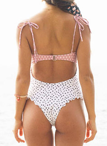 Image of Smocked One Piece Swimsuit (LC411558-1-2)