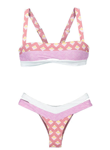 Image of Printing Two-Piece Swimwear