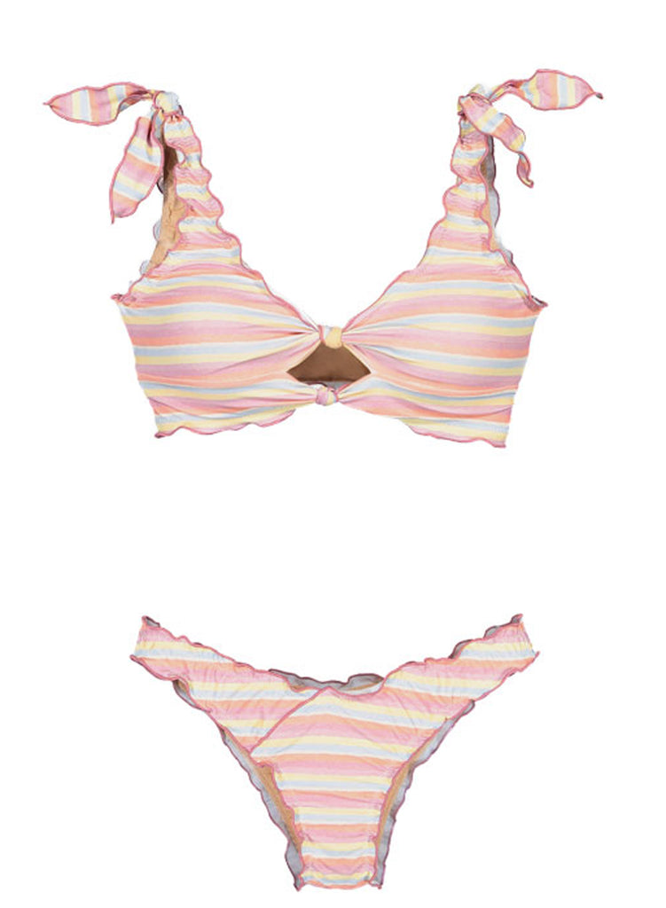 Printing two-piece swimsuit(LC411663-19-5)