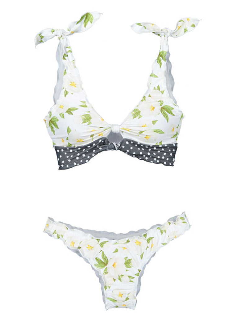 Printing two-piece swimsuit(LC411663-1-4)