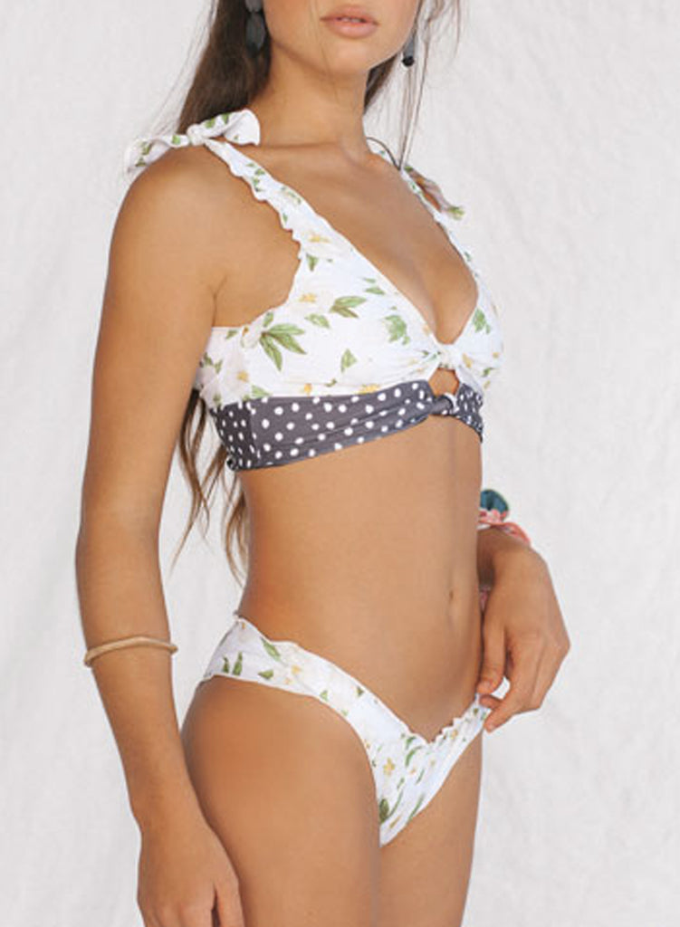 Printing two-piece swimsuit(LC411663-1-5)
