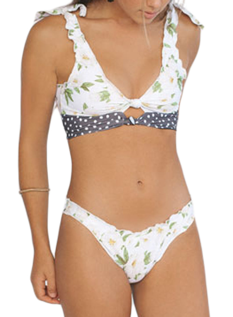 Printing two-piece swimsuit(LC411663-1-3)